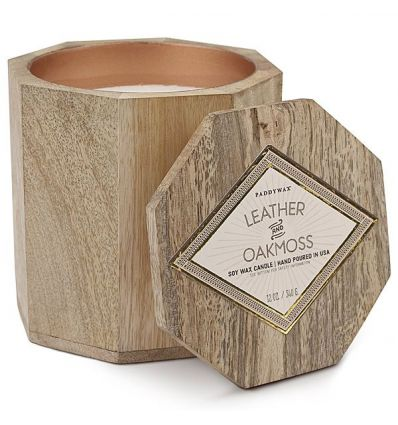 Paddywax - Bougie Cire de Soja WOODS - Leather & Oakmoss