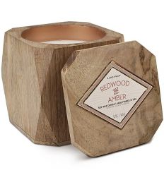 Bougie Cire de Soja WOODS - Redwood & Amber - 340g