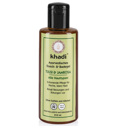 Khadi - Gel Douche Ayurvédique Tulsi & Jamrosa - 210 ml