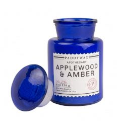 Bougie Cire de Soja Apothecary Blue - Applewood & Amber - 226g