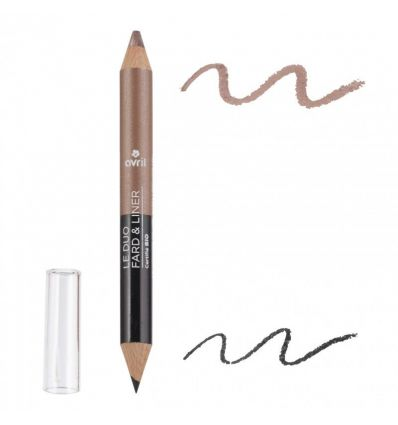 Avril - Duo Fard & Liner Noir Charbon & Taupe - 1,8g