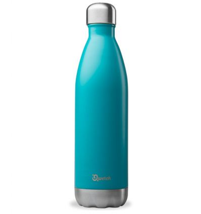 Qwetch - Bouteille isotherme Inox Turquoise - 750 ml