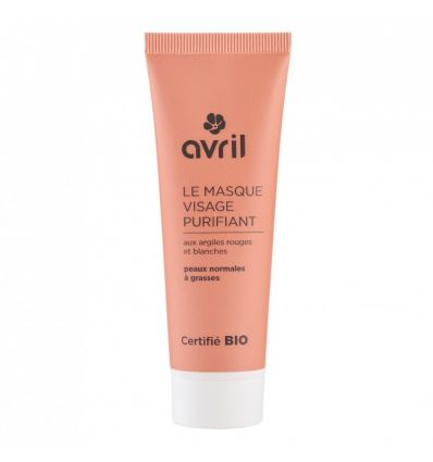 Avril - Masque Purifiant Bio Argiles Rouges & Blanches - 50 ml