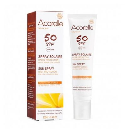 Acorelle - Spray Solaire SPF 50 Haute Protection - 100 ml