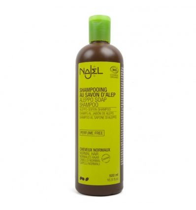 Najel - Shampoing Savon d'Alep Cheveux Normaux - 500 ml